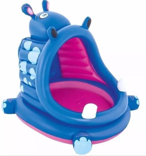 super oferta de reyes - pileta inflable hipopotamo bestway