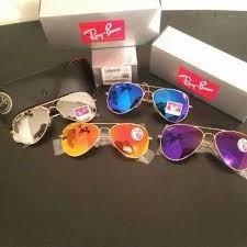 super oferta! gafas ray ban aviador  original lente colores