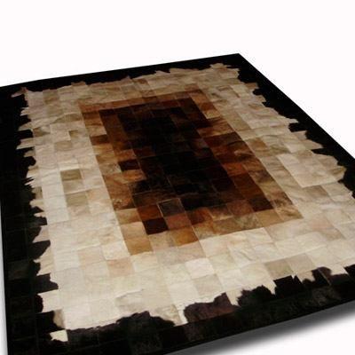 super oferta limitada!! alfombra patchwork de cuero de vaca