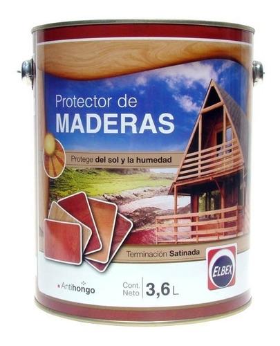 super oferta protector de maderas elbex 3.6 lts
