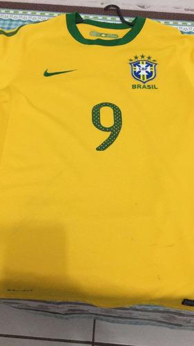 super ofertal! camisa oficial nike brasil - copa 2010 - nº 9