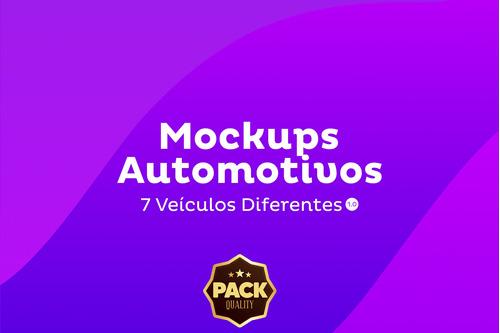 super pack mockup carros brasileiros - psd