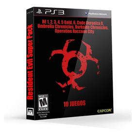 Super Pack Resident Evil Ps3 Incluye 10 Juegos De La Saga