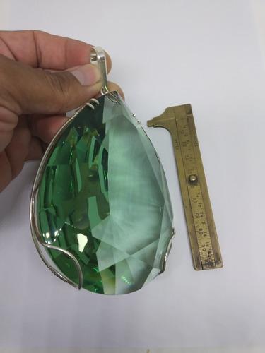 super pingente obsidiana verde ! ornamento !joia!