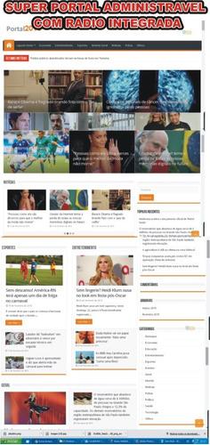 super portal de noticias com radio integrada +app para radio