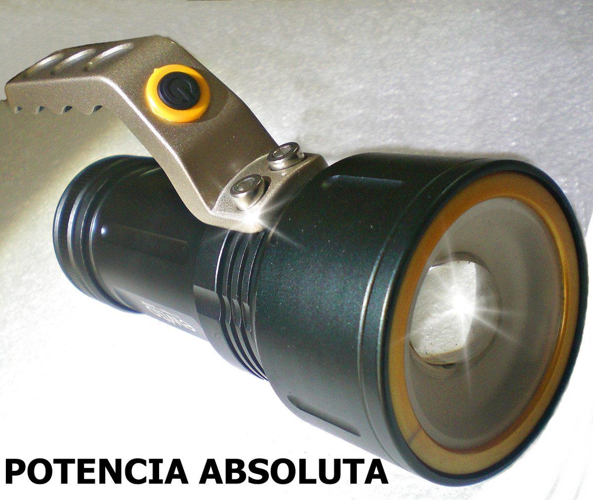 Super potente linterna tactica led cree recargable 4000 lm for Linterna de led potente