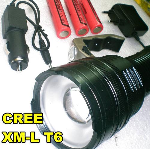 super potente linterna tactica zoom led cree 100000 lumen t6