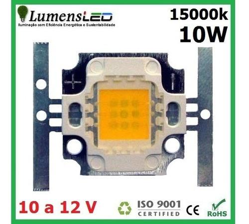 super power led 10w watts - branco 15000 k - 850 lumens