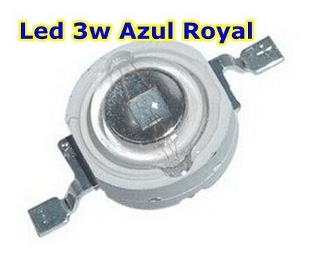 3 x LED de alta potencia de 1W AZUL 460-465nm