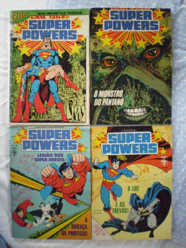 super powers! vários! editora abril! 1986! r$ 8,00 cada!