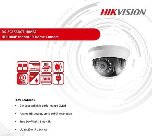 super precio kit 8 cámaras turbohd 1080p  hikvision