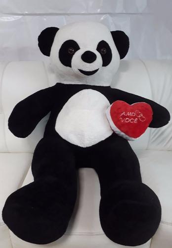 super presente urso gigante panda com coração romântico amo