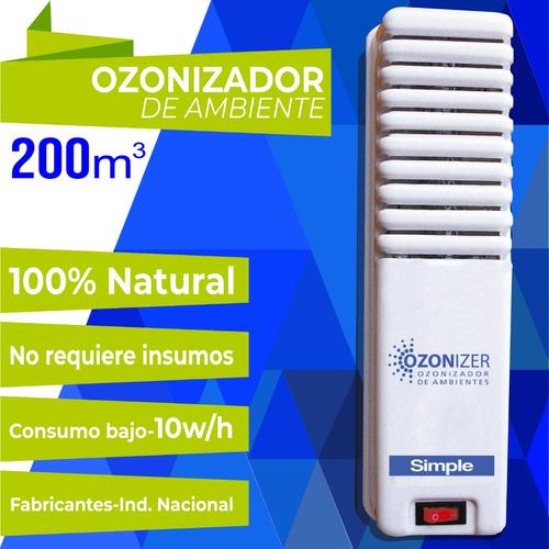 super promo ambiente 2 x ozonizador  ionizador aire simple