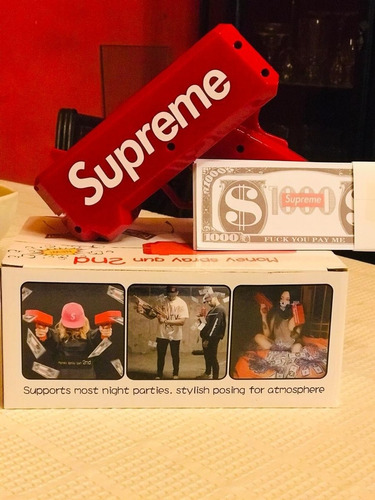 super promo billetera supreme+lanzador de billetes