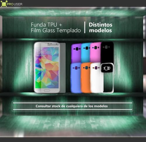 super promo funda + vidrio glass templado nokia lumia 950
