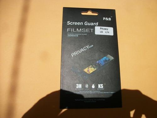 super promo mica de pantalla privacidad lg optimus l7x p713!