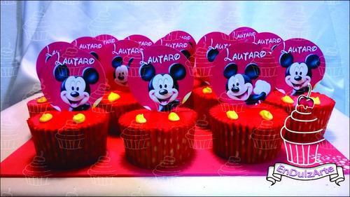 super promo!!!12 cupcakes muffins magdalenas personalizados