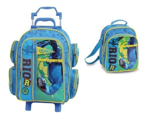 super promoção kit mochilete + lancheira rio g - 50253