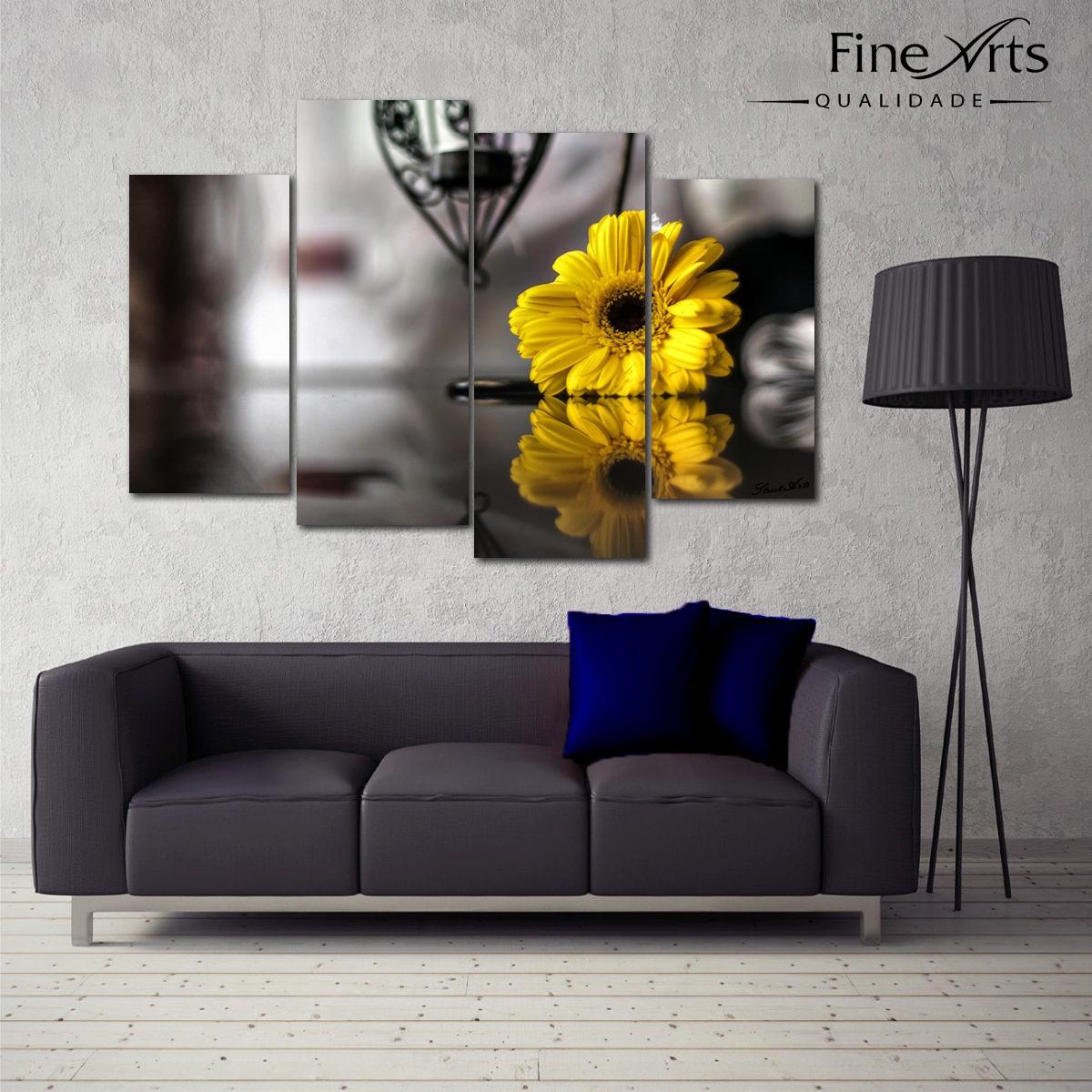 e6b6e0ffd Super Promoção Telas, Quadros Decorativos Flores Sala - R$ 299,90 em ...