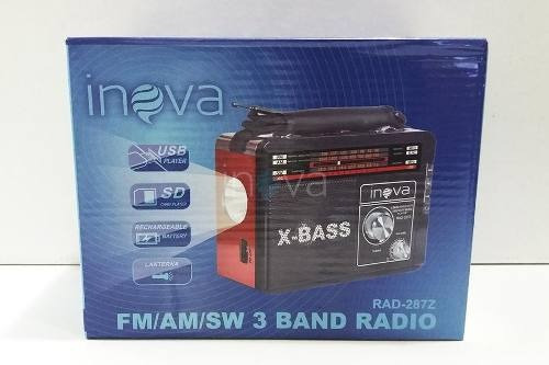 super radio lanterna inova - fm/am/sw 3 band aproveite