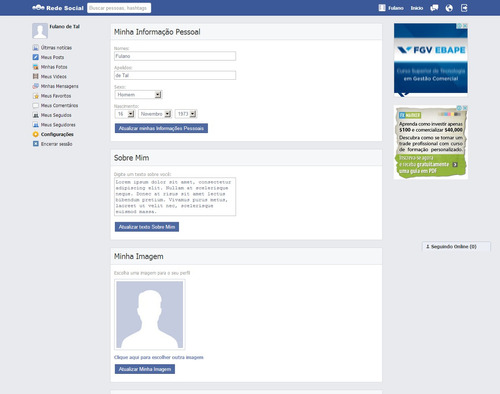 super script em php para rede social estilo orkut e facebook