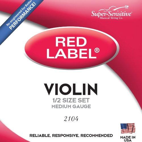 super sensitive red label 2104 violin set cadena, 1/2