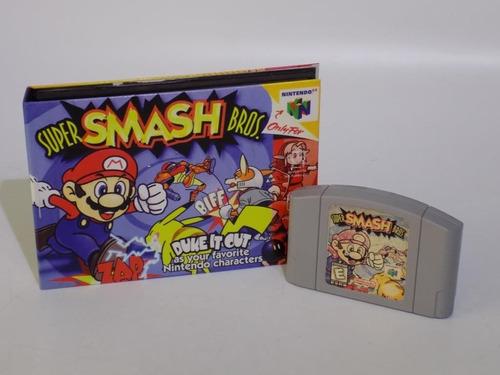 super smash bros 64 en caja  nintendo 64 funcional