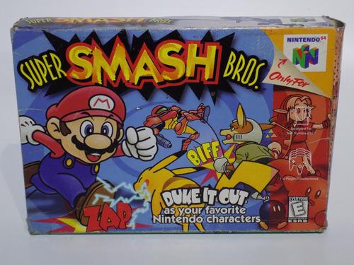 super smash bros 64 en caja original nintendo 64 funcional