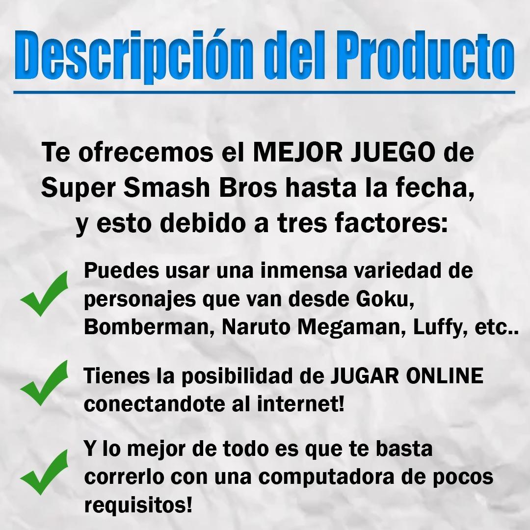 Super Smash Bros Juego Digital Bajos Requisitos Para Pc 2019 Bs