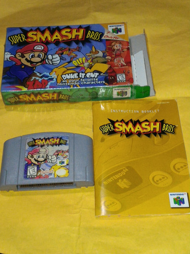 super smash bros nintendo 64 n64 c/ caja y manual