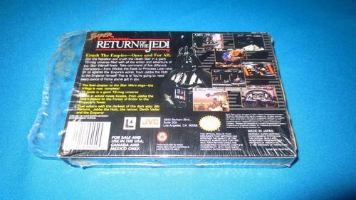 super star wars rerurn of the jedi snes *solo caja y manual*