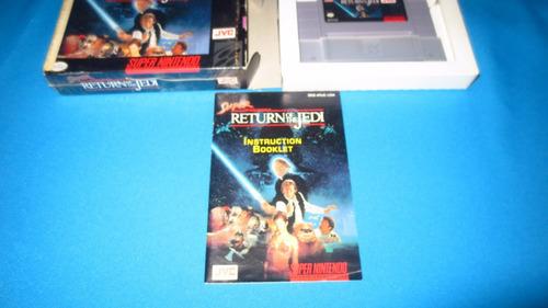 super star wars return of the jedi snes *con caja y manual*
