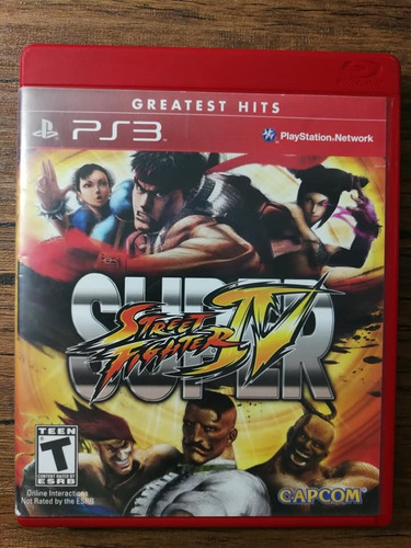 super street fighter 4 playstation 3 ps3 buen estado !!