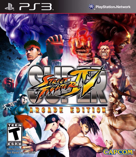 super street fighter 4 ps3 arcade edition + d l c trajes