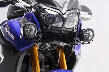 super tenere  montaje  faros auxiliares sw motech para  moto