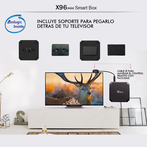 super tv box x96 mini 2gb 16gb smart tv android 7.1 control