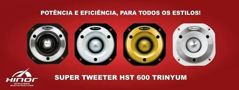 Super Tweeter Hinor Hst600 Hst 600 Trinyum 300w Rms P/ Trio