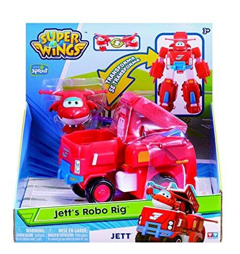 super wings - transformación del vehículo jett (para uso con