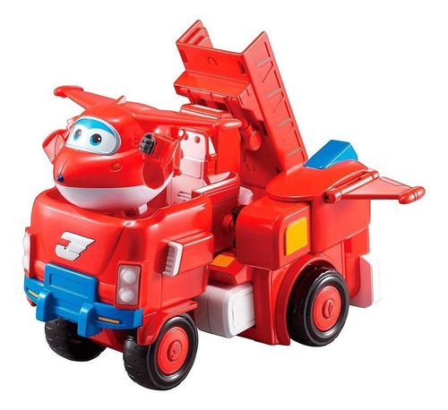 super wings transformador jett super robo - fun divirta-se
