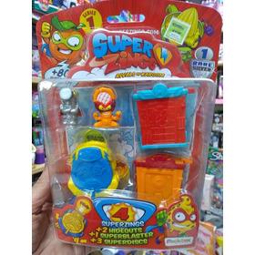 Super Zings Casa + Lanzador + Figuras Bunny Toys