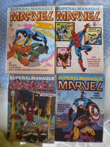 superalmanaque marvel! vários! ed. abril 1989! r$ 15,00 cada