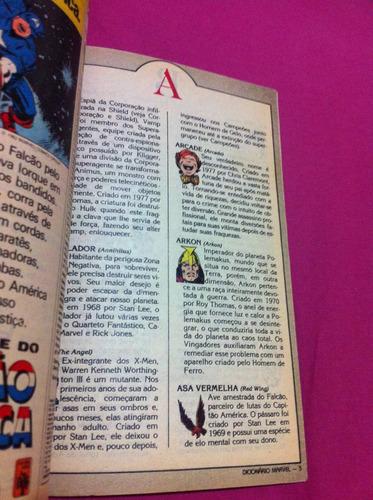 superaventuras marvel 14 + figurinhas + dicionário marvel