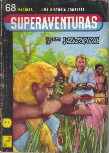 superaventuras nº 3 loura selvagem editora editormex fev/61