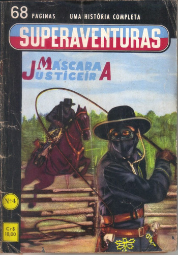 superaventuras nº 4 máscara justiceira mar/61 ed. editormex
