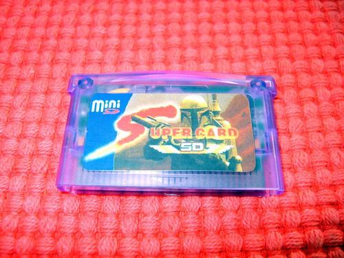 supercard mini sd cartucho flash gba gameboy advance gbasp