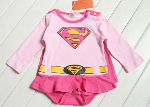superchica. enterizo / ropa / disfraces para bebes 0-9m
