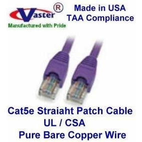 Made in USA USA-0671-18 Ft UTP Cat5e Ethernet Network Patch Cable Black SuperEcable UL 24Awg Pure Copper