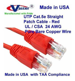 SuperEcable Ethernet Network Patch Cable Yelow USA-0679-34 Ft UTP Cat5e UL 24Awg Pure Copper Made in USA