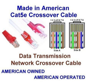 USA-0679-60 Ft UTP Cat5e Ethernet Network Patch Cable Yellow UL 24Awg Pure Copper Made in USA SuperEcable
