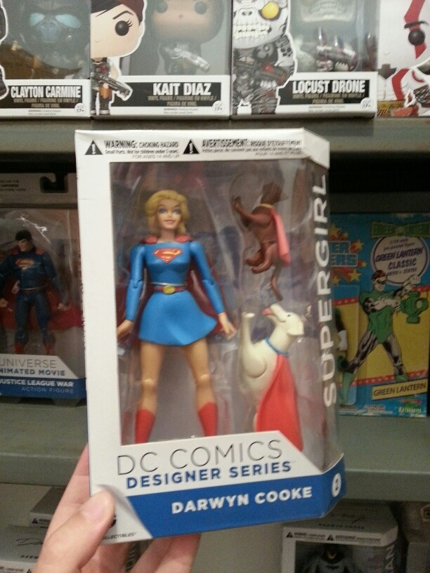 Darwyn Cooke Supergirl Action Figure DC Comics Designer Series